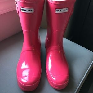 BRAND NEW RARE PINK COLOR HUNTER BOOTS NWT